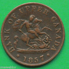 1857 Canada Half-Penny SNo28843