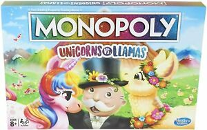 Monopoly Unicorns vs. Llamas Board Game for Ages 8 and Up**New & Sealed**