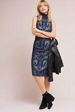NWT Anthropologie By Maeve Ryder Jacquard Turtleneck Dress Blue Size 6P