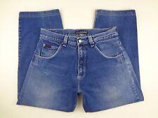 FUBU Jeans Mens Size 35 x 29 Retro 90's Hip Hop Baggy EKG Stitch Wide Tapered VG