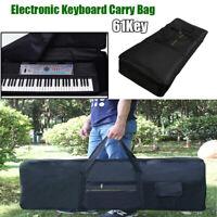 61Key Electronic Keyboard Piano Soft Padded Gig Bag Advanced Fabrics Black US