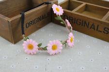 Boho Daisy Hairband Headband Wedding Festival Elastic Flower Hair Garland