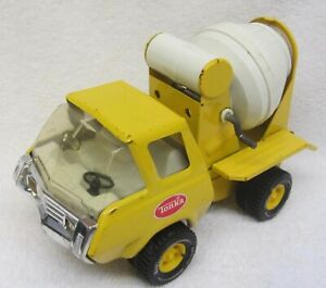 "Vintage TONKA Yellow CEMENT MIXER TRUCK Pressed Steel Toy 8"" Futuristic USA NICE"