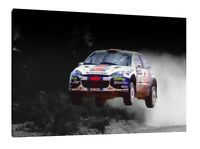 Martini Ford Focus WRC 30x20 Inch Canvas Art - Colin McRae Framed Picture