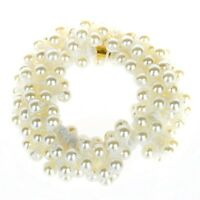 SODIAL (R) Frauen Perlen Kuegelchen Haarband Seil Zopfband Pferdeschwanz-Ha EBKL
