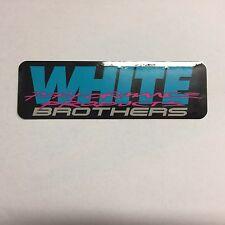 White Brothers Motocross Enduro Baja Sticker Decal Black/Blue/Pink/Gray 5 3/4