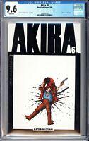 """Akira #6 CGC 9.6 WP 1989 3700181022 Newsstand """"""""Death"""""""" of Yamagata"""