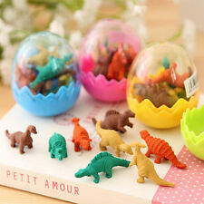 8PCS Funny Mini Dinosaurs Pencil Rubber Erasers Students Office Stationery Gift