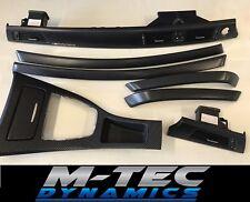 BMW E90 E91 Negro 4D Moldura Interior De Carbono Brillo conjunto Cenicero Puerta acabadores MP BN