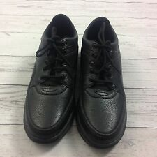 Rockport Womens Sneakers Size 9 M Black Leather Walking Shoes Lace up NEW K70784