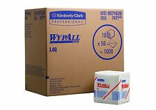 Kimberly Clark 7471 WYPALL L40 Wipers Pack of 18 x 56 White 1008 sheets