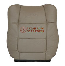 2001,2002,2003 Ford F250 F350 Lariat XLT Driver Lean Back Leather Seat Cover Tan