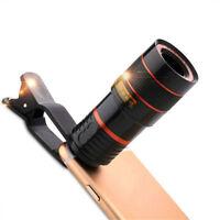 12x Zoom Optical Telescope HD Cell Phone Lens Universal Smartphone Adjustable