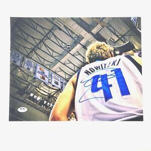 Dirk Nowitzki signed 11x14 photo PSA/DNA Dallas Mavericks Autographed