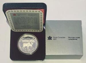 1985 Royal Canadian Mint 100th Anniversary National Parks Proof Silver Dollar