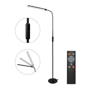 Stehlampe Dimmbar Flexibler Hals Leselampe Standleuchte Deckenfluter LED Büro