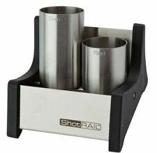 Stainless Steel Shot Rail including 25ml & 50ml Thimble Spirit Measures