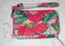 NWT VERA BRADLEY VINTAGE FLORAL ALL IN ONE CROSSBODY WALLET, RETAILS $68