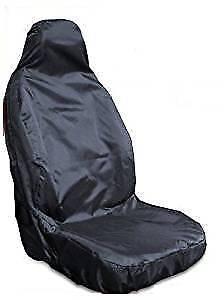SEAT LEON FR - HEAVY DUTY WATERPROOF BLACK SINGLE CAR VAN SEAT COVER