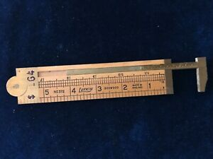 Vintage Lufkin No.372 Brass and Boxwood Caliper Ruler Made in England 🇬🇧