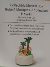 Wooderful Life 'Hawaii' Musical Box - Sankyo Movement, Real Wood, New In Box
