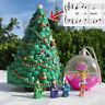 Mini Polly Pocket Weihnachtskugel und Tannenbaum mit Musik und Licht