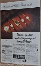 1947 Elgin Watch advertisement, wristwatch photos