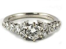 14K White Gold 1.10 Carat TDW Diamond Engagment Ring w/accents  Sz 7