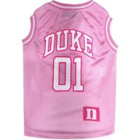 Duke Blue Devils NCAA Pets First Dog Basketball Pink Tank Tank Jersey Sizes XS-L
