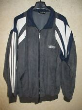 Veste ADIDAS vintage style CHALLENGER tracktop jacket gris années 80 90 162 XS
