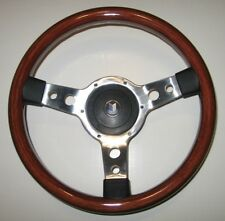 "New 13"" Wood Steering Wheel and Hub Adaptor Triumph TR4 TR250 TR6 Made in the UK"