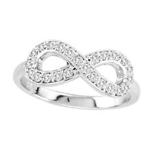 14k White Gold .40cttw Diamond Infinity Ring Anniversary Love Women Fashion Ring