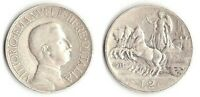1911 Vittorio Emanuele III Lire 2 Quadriga Veloce Rara 2 Argento Circolata
