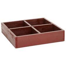 IB Laursen Kiste mit 4 Fächer rot
