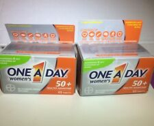 One A Day Women's Multivitamin 65x2 Tablets Vitamin for 50+ Exp 10/20 & 7/21