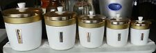 Vintage Australian Made Canister Set - 5 pc. - Waratah