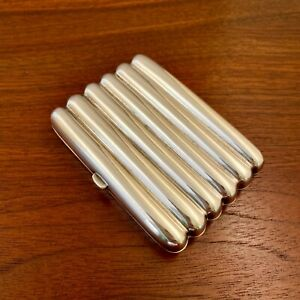 HOWARD JAMES ENGLISH VICTORIAN STERLING SILVER SECTIONED CIGARETTE CASE 1883