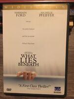What Lies Beneath (DVD, 2001, WS) - Harrison Ford, Michelle Pfeiffer W/INSERT ✅