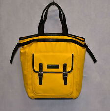 G0 Auth DSQUARED2 Yellow Vinyl With Leather Trim Drawstring Compartment Tote Bag