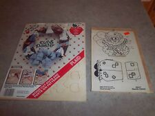 2 Wooden Pre Cut Craft Kits Clown & Amish Country Living People - New Sealed