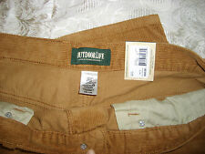 MEN'S OUTDOOR LIFE CORDUROY PANTS 34 X 30 ,100% COTTON,, NEW WITH TAGS