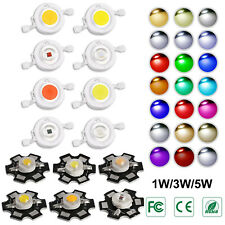 5x Chip led COB 1W/3W/5W varie colorazioni  alta luminosità 600mA 3.2-3.4V