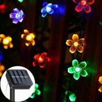 Solar Strings Lights Garden, 23ft 8 Modes 50 LED Blossom Solar Powered Fairy Lig