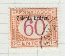 ERITREA 1920-22 USED SC #J7 POSTAGE DUE CAT $67.50