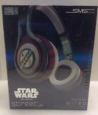 SMS Audio Star Wars Boba Fett Street By 50 Cent Wired Headphones 1st Ed NIP