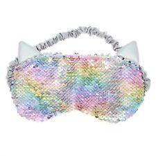 Reversible Sequin Pastel Cat Sleep Mask Soft Sleep Aid Plush Sleeping Mask Kitty