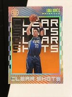 2019-20 PANINI ILLUSIONS LUKA DONCIC ACETATE CLEAR SHOTS ORANGE PARALLEL #10