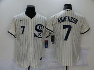 Men's Chicago White Sox Tim Anderson 2021 Field of Dreams Cream Jersey