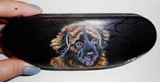 Leonberger dog Hand Painted Hard Eyeglass Case Vegan