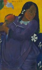 Woman with a Mango by Paul Gauguin Fine Art Giclee Canvas Print